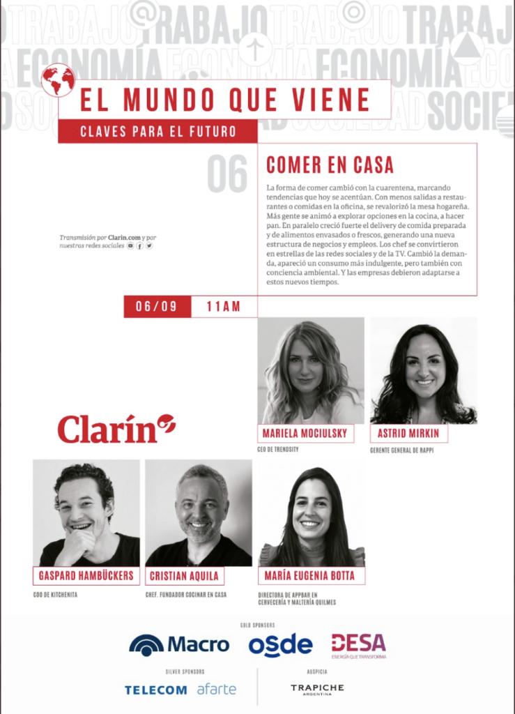 """""""Comer en casa"""", el tema de una nueva mesa de diálogo de Clarín 6"""